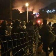 samos-μετανάστες-φωτιά