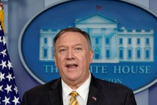 U.S. Secretary of State Mike Pompeo speaks to reporters in the briefing room of the White House in Washington, U.S., September 10, 2019. REUTERS/Kevin Lamarque